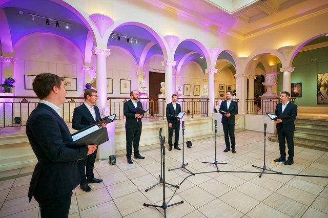 The Gesualdo Six performing at Perth Museum, one of the highlights of this year's Perth Arts Festival PIC: Fraser Band
