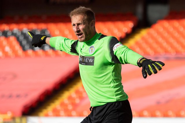 Zdenek Zlamal appearing for St Mirren in their 2-1 defeat at Dundee United. Picture: SNS