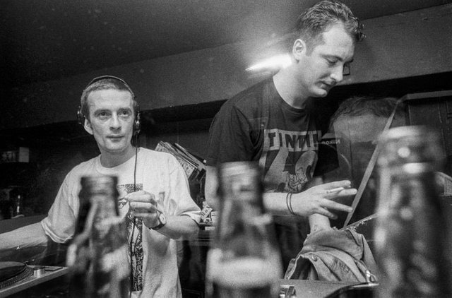 DJs Harri and Orde Meikle from Slam at work at Atlantis at the Sub Club. Picture: Nick Peacock
