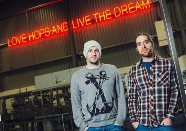 """BrewDog co-founders (left to right) James Watt and Martin Dickie. Watt apologised swiftly after a group letter from former staff alleged a """"culture of fear"""" and """"toxic attitude"""" was at the heart of the hugely successful craft beer business. PIC: Contributed."""
