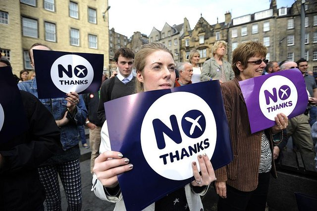 A majority of Scots would not back independence if a referendum was held tomorrow, according to major a new poll, while fewer than one in 10 believed constitutional affairs were among the most important issues facing Scotland. (Andy Buchanan/AFP via Getty Images)