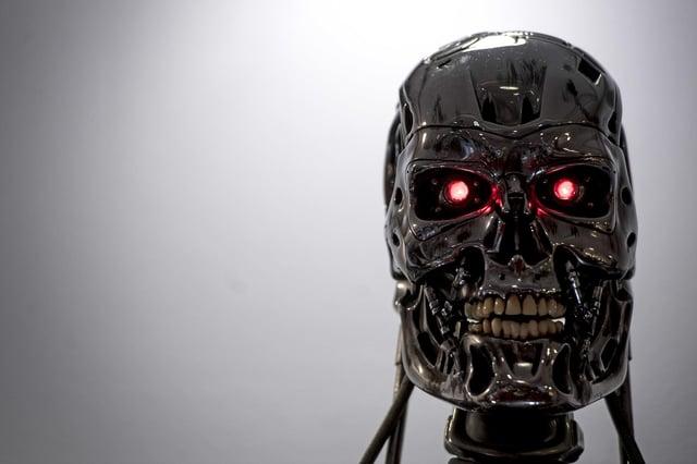 A computer-drive villain from Terminator 2: Judgement Day (Picture: Victoria Jones/PA Wire)