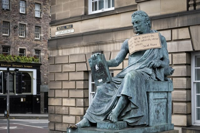 Racist remarks by the 18th-century philosopher David Hume have come under attack amid the ongoing Black Lives Matter protests, but he was also heavily criticised at the time (Picture: Jane Barlow/PA)