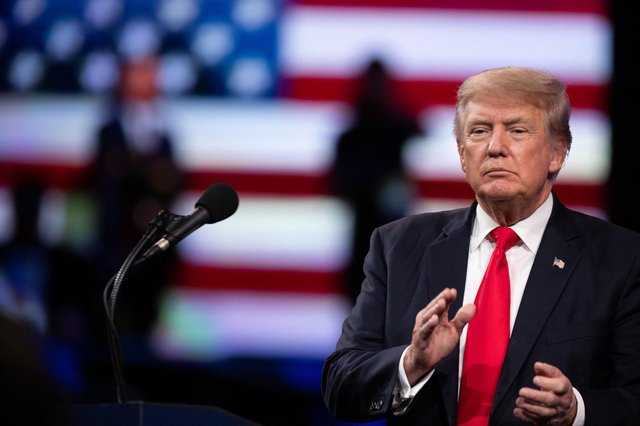 Former US president Donald Trump speaks at the Conservative Political Action Conference (CPAC) in Dallas, Texas. Picture: Andy Jacobsohn/AFP via Getty Images
