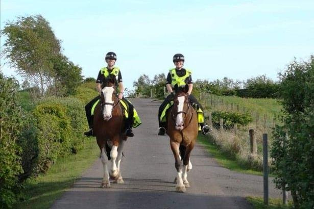Orkney, pictured right, suddenly collapsed on patrol in Kilmarnock. Photograph: Police Scotland
