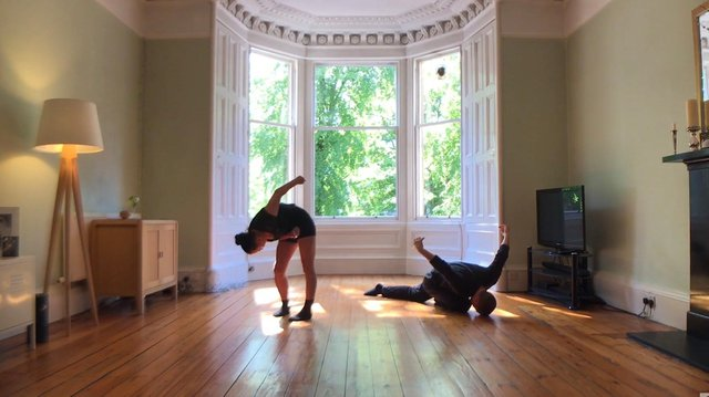 Davina Givan and Errol White perform an excerpt from Worn