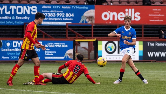 Ben Williamson in action for Rangers in a recent friendly against Partick Thistle. (Photo by Craig Williamson / SNS Group)
