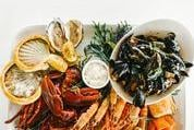 A Seafood Platter, one of the house specialities.