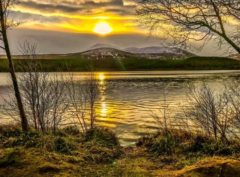 Robert Sweeney caught the sun over Loch Morlich.