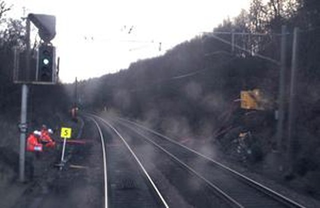 CCTV image from the train showing the start of the emergency speed restriction. Picture: Avanti West Coast