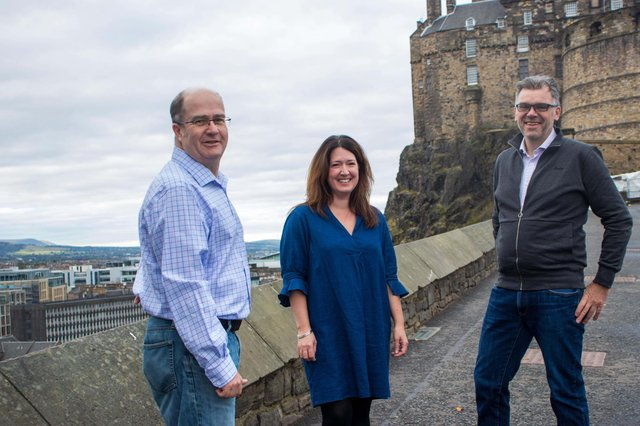Members of the Siccar management team: chief technology officer Stuart Fraser, chairperson Carolyn Jameson and chief executive Peter Ferry.
