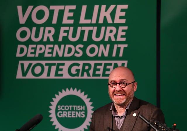 Scottish Green Party co-leader Patrick Harvie.