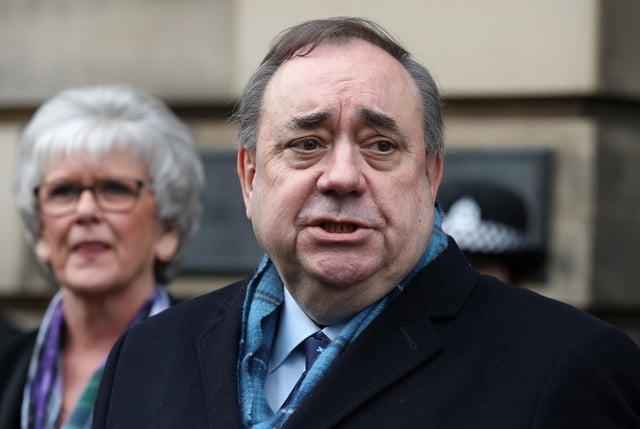 Former first minister Alex Salmond