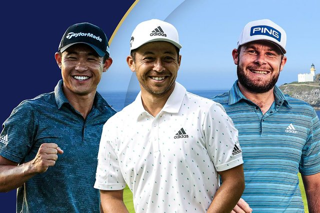 Three of the world's current top eight - Collin Morikawa, Xander Schauffele and Tyrrell Hatton - are set to play in the Aberdeen Standard Investments Scottish Open at The Renaissance Club in July. Picture: Getty Images