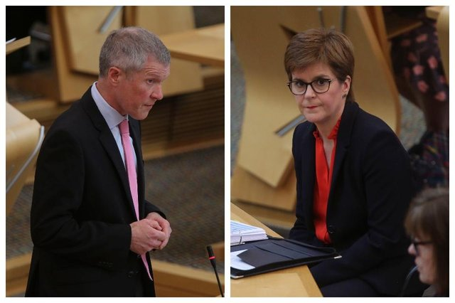 Willie Rennie and Nicola Sturgeon at First Minister's Questions