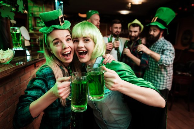 People wear their best green outfits on St Patrick's Day, but the 2021 celebrations will be different due to Covid (Shutterstock)