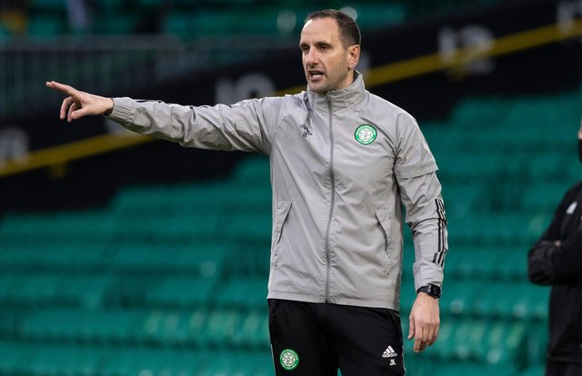 Celtic interim boss John Kennedy won his first game in charge. Picture: SNS