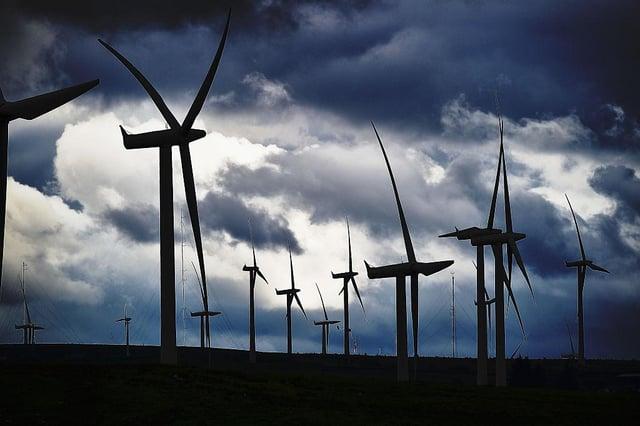 Wind farms are an increasingly familiar sight in Scotland