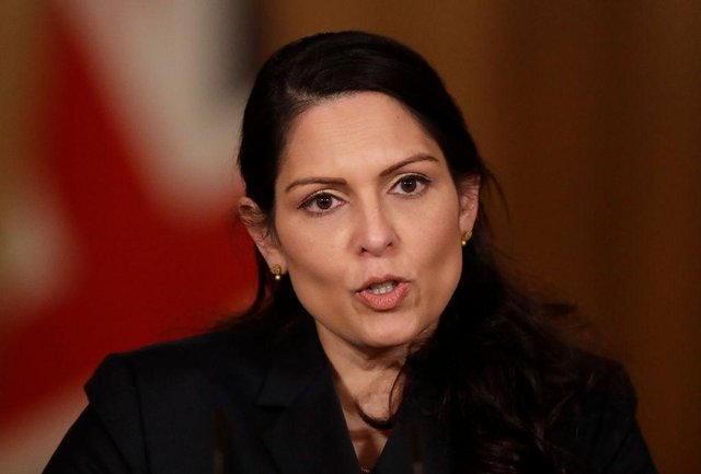 Home Secretary Priti Patel has sought to reassure the public over the integrity and dedication of police after the arrest of a serving officer on suspicion of Sarah Everard's murder. (Photo by Matt Dunham - WPA Pool/Getty Images)
