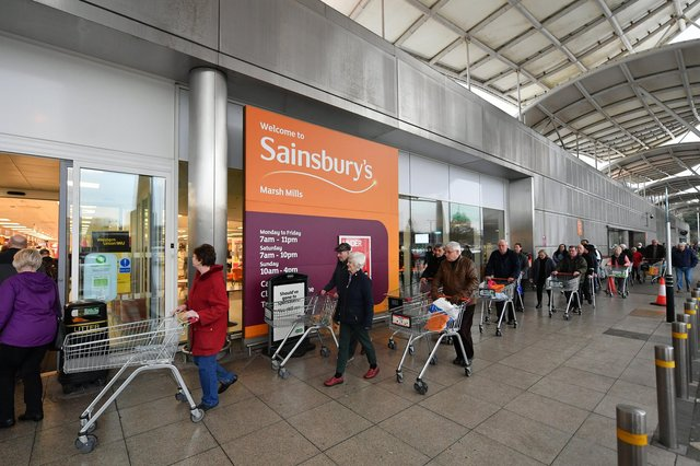 Sainsbury's said overall sales in the year to March 6 jumped 7.8 per cent, including an 8.3 per cent hike in non-food business as shoppers were unable to head to non-essential retailers for large parts of the year. Picture: Dan Mullan/Getty Images