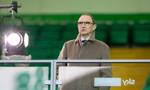 Former Celtic manager Martin O'Neill takes in the 1-1 draw with Rangers at Celtic Park. (Photo by Craig Williamson / SNS Group)