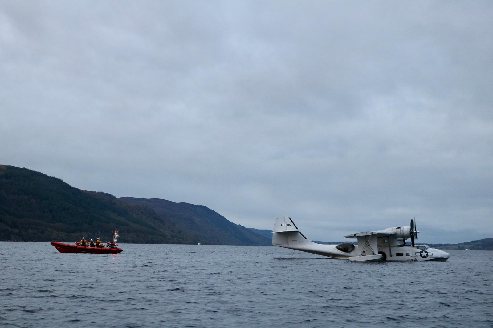 Second World War flying boat with engine failure sparks rescue on Loch Ness
