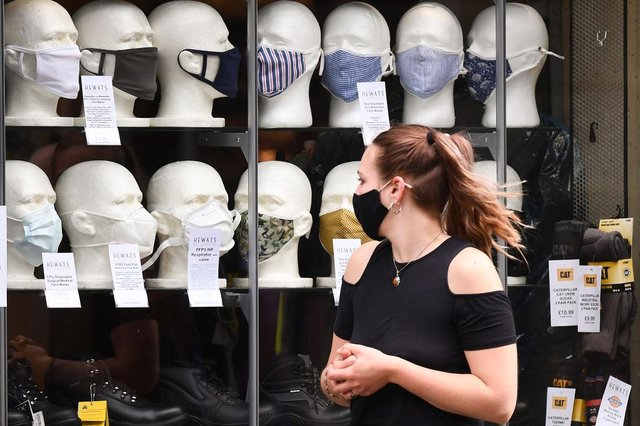 Face masks have been worn across the UK to help stop the spread of Covid. (Pic: Getty Images)