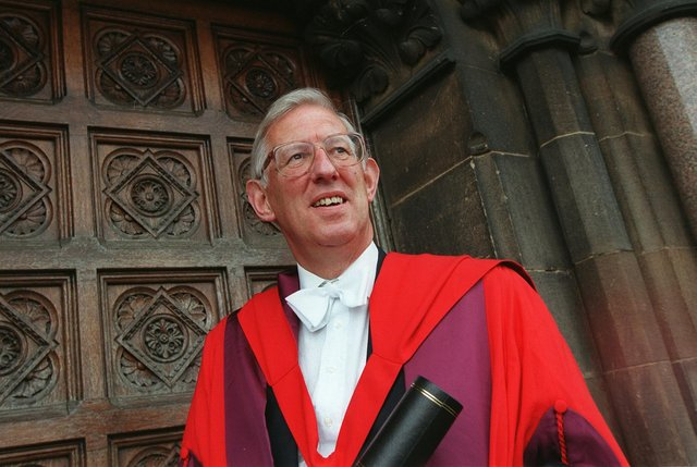 Sir Jack Shaw dressed to receive an honorary law degree at the University of Glasgow (Picture: Alan Milligan)