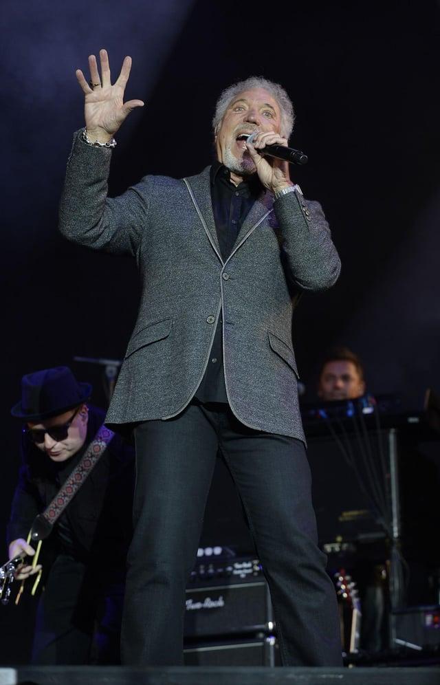 Tom Jones performs at V Festival in 2015. Picture: Joe Giddens/PA