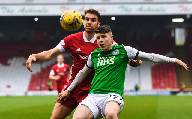 """Celtic interim manager John Kennedy admitted that Hibs' Kevin Nisbet has had a """"good season"""" in responding to reports he could be a target for the Parkhead club.(Photo by Craig Foy / SNS Group)"""