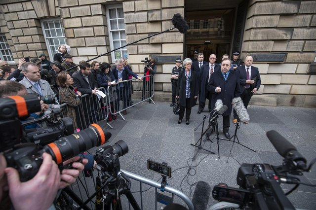 Alex Salmond leaves the High Court in Edinburgh after he was cleared of a series of sexual assaults (Picture: Jane Barlow/PA Wire)