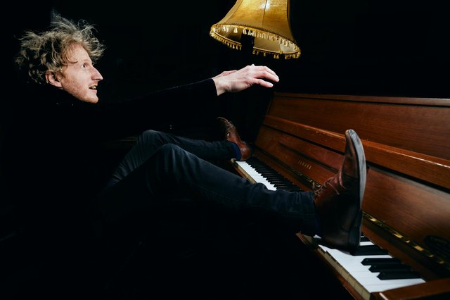 Will Pickvance in First Piano On The Moon PIC: Peter Dibdin