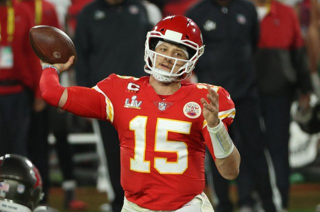 The salaries of top NFL stars like Patrick Mahomes go up year by year. Picture: Patrick Smith/Getty Images