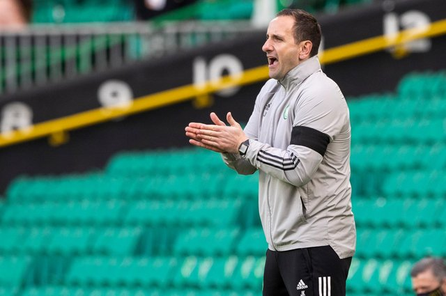 Celtic interim manager John Kennedy. Picture: SNS