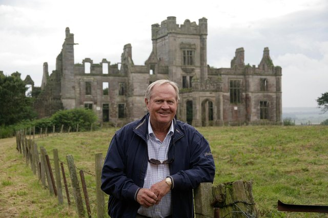 Jack Nicklaus pictured during a visit to Ury Estate, near Stonehaven