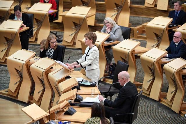 Nicola Sturgeon was challenged on her priorities.