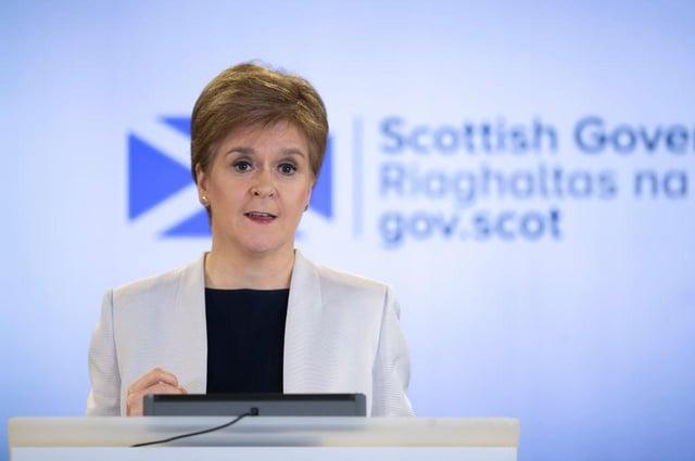 Nicola Sturgeon has confirmed the latest coronavirus figures for Scotland. (Photo by Jane Barlow-WPA Pool/Getty Images)