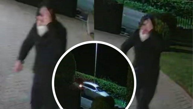 Police have released images of a man dressed in black and a car following a fireraising incident which occurred at about 12.50am on Wednesday, 19 May, 2021 at Peter Lawwell's house in the Thorntonhall area
