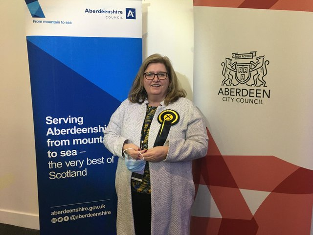 Jackie Dunbar comfortably takes Aberdeen Donside for SNP with a majority of more than 9,000. PIC: Contributed.