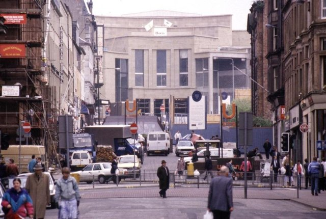 Glasgow Concert Hall being built prior to the 1990 City of Culture. Picture: TSPL