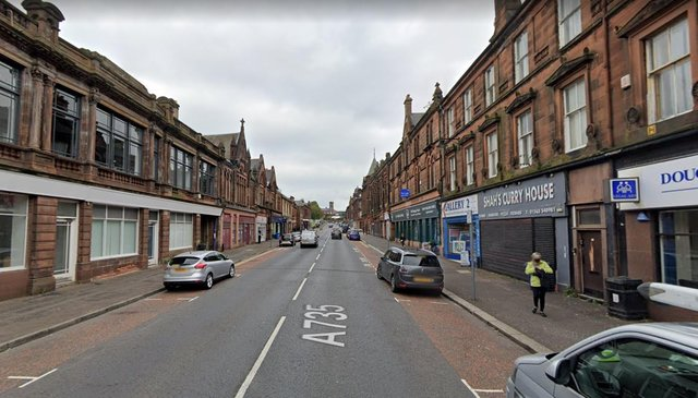 The victim had his jaw broken after he was attacked by two men in John Finnie Street, Kilmarnock, near to the street's junction with Grange Place.