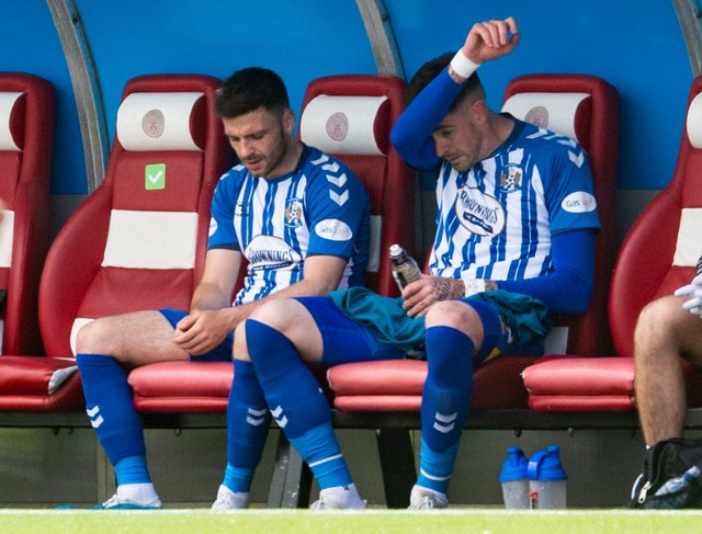 Kilmarnock defeated Hamilton but face a play-off with Dundee to secure their Premiership place. Picture: SNS