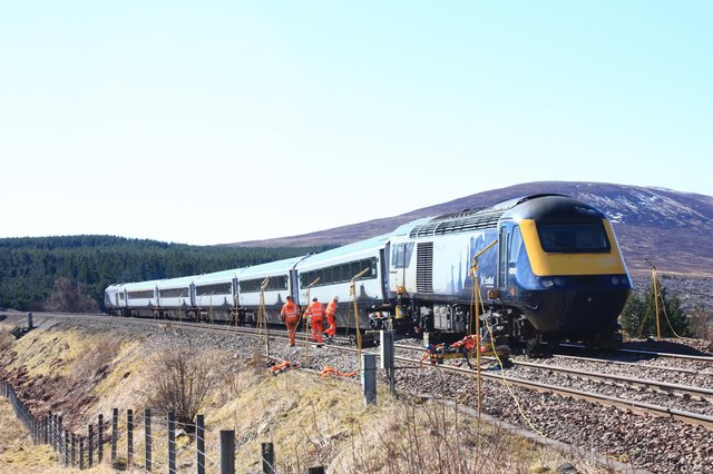 The derailment closed the line between Kingussie and Blair Atholl for five days. Picture: Timon Rose