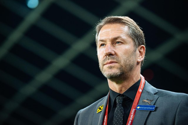 German coach Franco Foda has won 19 of his 29 matches in charge of Austria since taking the job in January 2018. (Photo by JURE MAKOVEC/AFP via Getty Images)