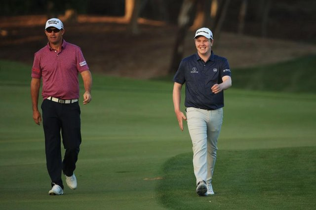 Bob MacIntyre has been on European captain Padraig Harrington's Ryder Cup rardar since they played in the same group in the Abu Dhabi HSBC Championship in January. Picture: Andrew Redington/Getty Images.