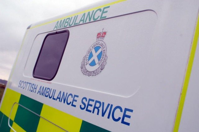The teen was taken to hospital following the crash.