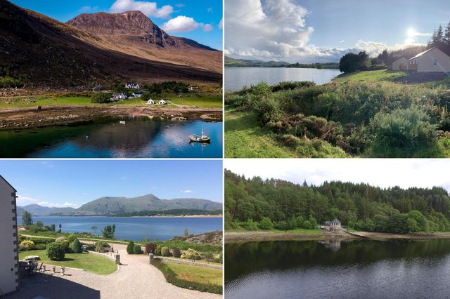 Some of the amazing lochside accomodation that can be booked in Scotland.