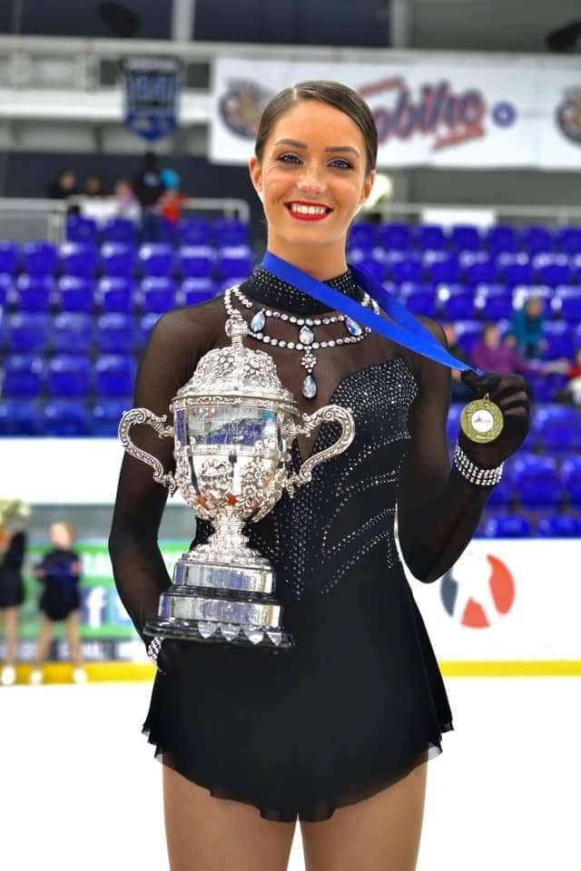 Natash McKay has qualified for Friday's free skate.