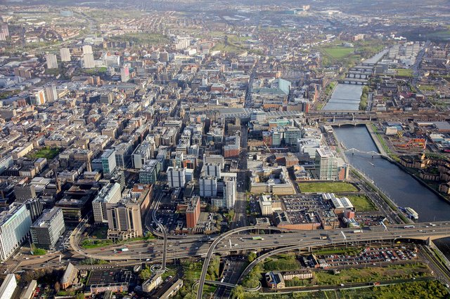 Cities like Glasgow face an uphill struggle to improve their economies after the pandemic, according to a new report. Picture: contributed.