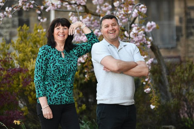 Pat McGinlay and his wife Margaret. The pair now run a cleaning business, Spic and Span. Picture: John Devlin